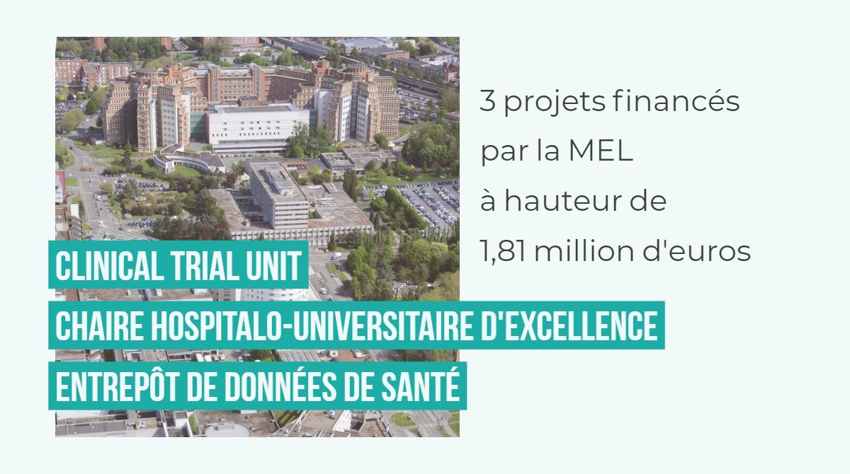 La Métropole Européenne de Lille, le CHU de Lille, l'Université de Lille et Eurasanté s'associent dans le cadre d'un partenariat d'envergure pour la recherche en santé sur le territoire