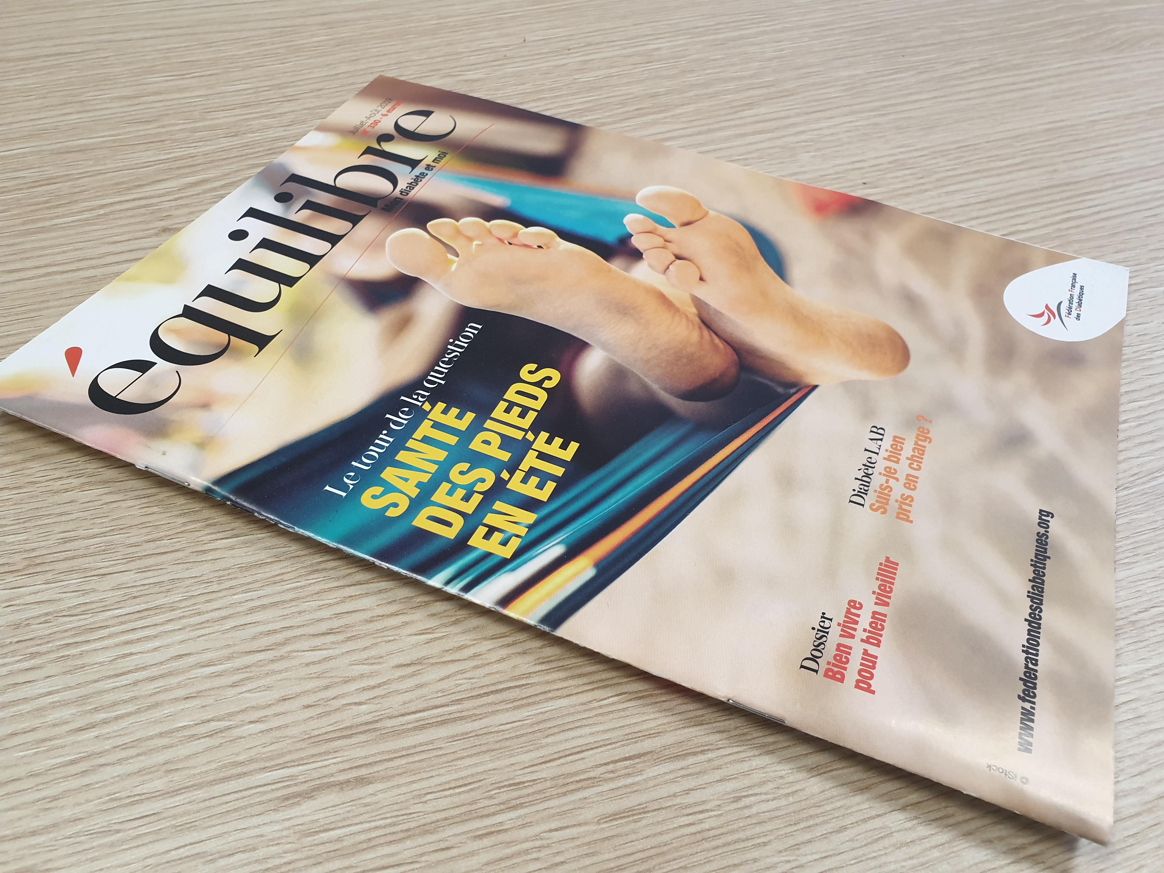PreciDIAB présent dans le magazine équilibre Juillet- Août 2019