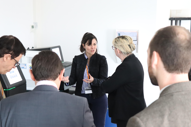 Visite de la plateforme LIGAN par Amélie BONNEFOND