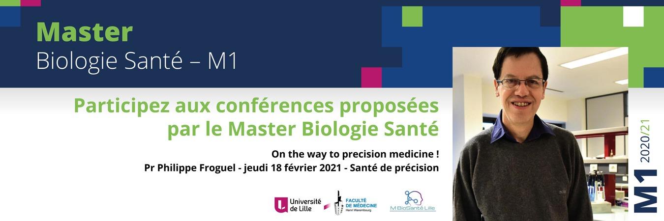 Cycle de conférences du Master Biologie Santé